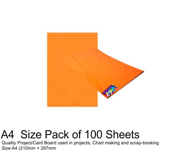 A4 Project Boards - 100 Sheets Orange 1
