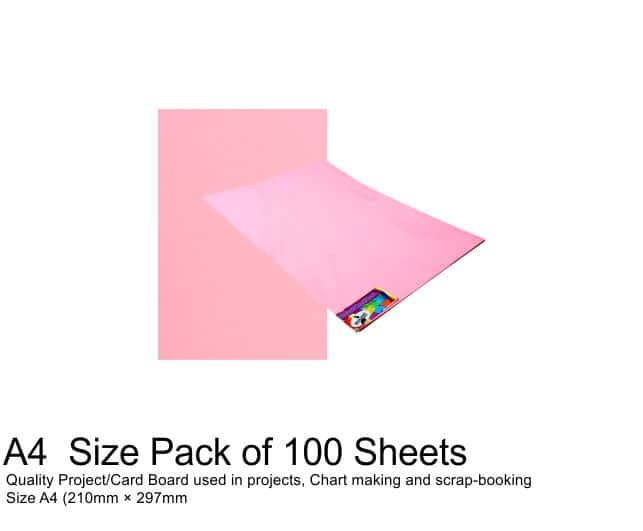 A4 Project Boards - 100 Sheets Pink 1