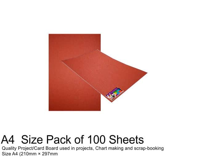 A4 Project Boards - 100 Sheets Red 1