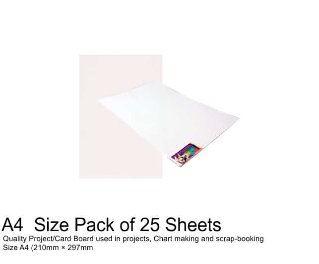 A4 Project Boards-25 Sheets White 1