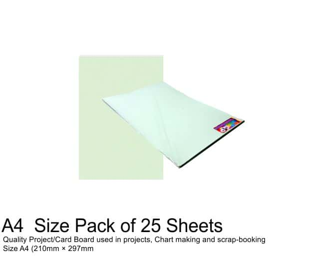 A4 Project Board - 25 Sheets Green 1