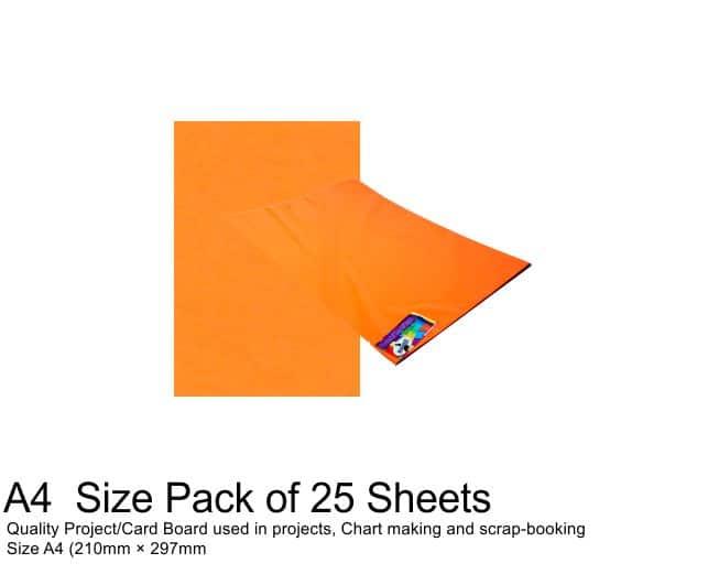 A4 Project Board - 25 Sheets Orange 1