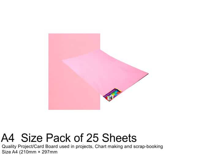 A4 Project Board - 25 Sheets Pink 1