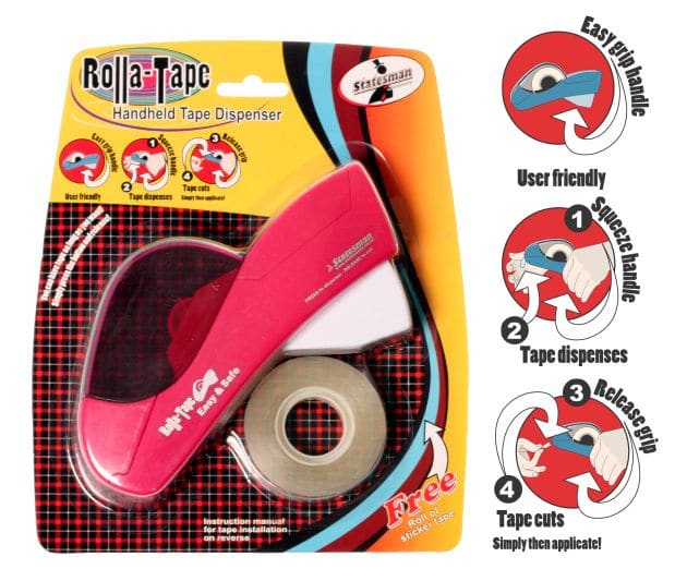 Rolla Tape Dispenser and Tape 1