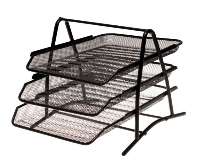 3 Tier Wire Mesh Letter Tray Black Only 1
