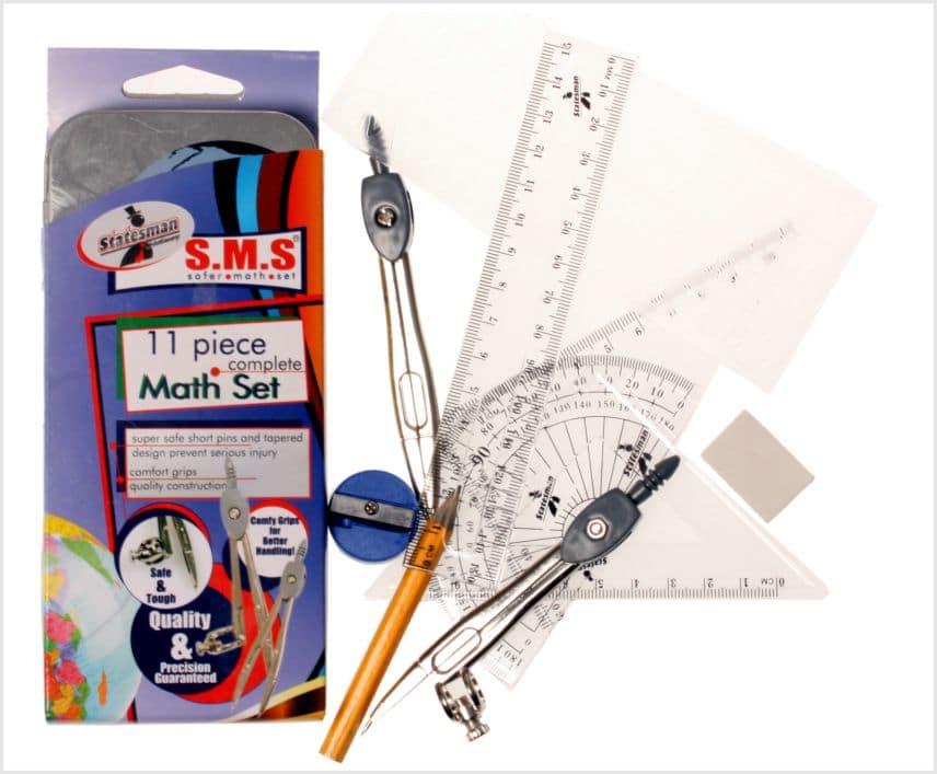 Math Set  S.m.s. Safer Math Set 11 Piece High Quality 1