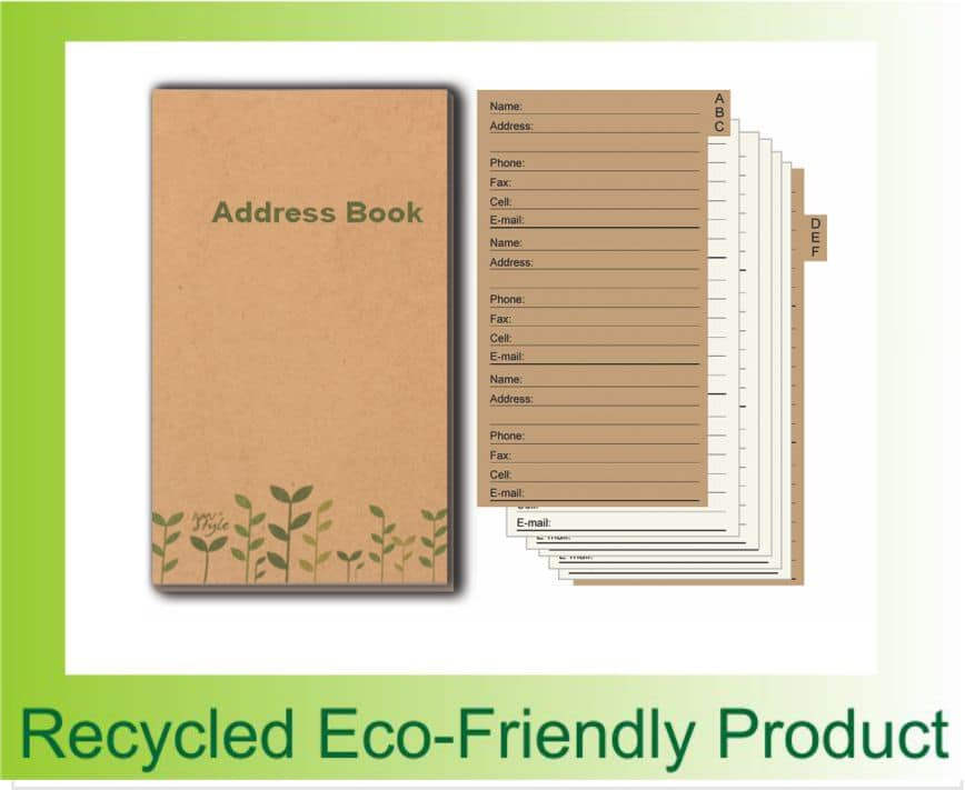 Back to Nature Eco-friendly Address Book 1