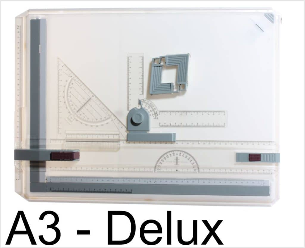 Technical Drawing Board A3 Deluxe Includes Instruments 1