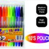 10 Pack  Colour Ballpoint Pens