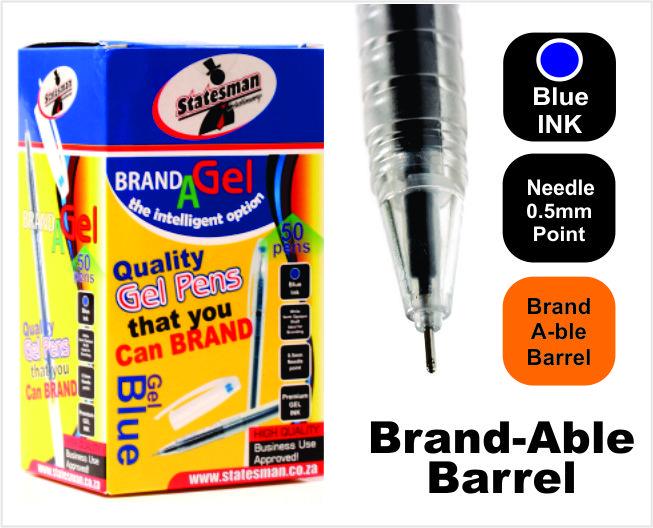 Gel Pens Needle Tip 50 Pack Blue Special Offer 1