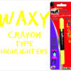 Blak Waxy Crayon Highlighters Orange Single Pack