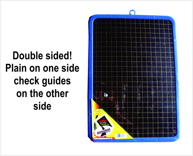 Double Sided School Slate Blackboard With Plastic Frame A4 Size 1