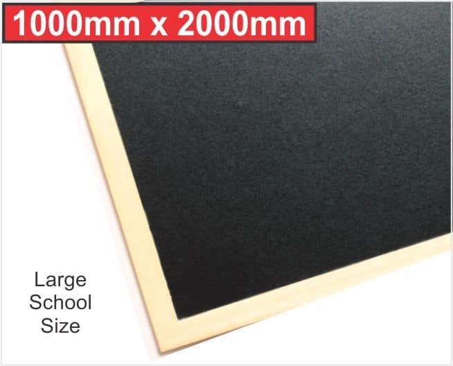 Wood Framed Blackboard for School Wall 2mx1m (2000mm X 1000mm) 1