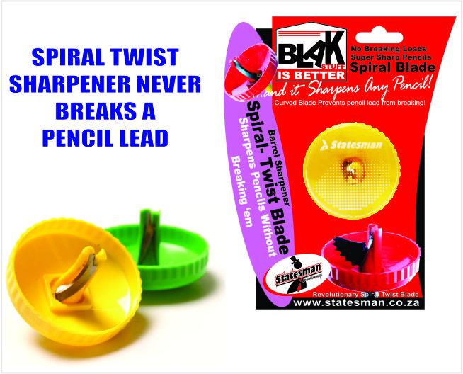 Blak Spiral Twist Pencil Sharpener 1