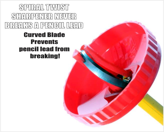 Blak Spiral Twist Pencil Sharpener 3