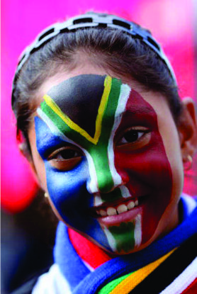 Face Paint in South African Colours 2