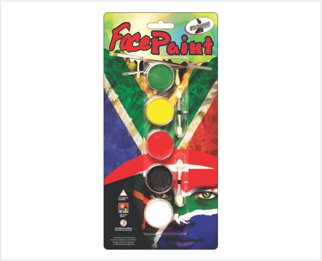 Face Paint in South African Colours 1