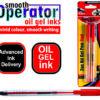 Oil Gel Pens 2 Pack Red