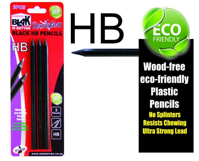 Blak HB Pencils 3 Pack 1