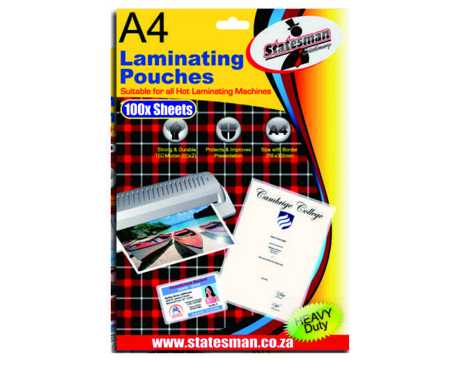 A4 Laminating Pouches 20 Pack 140 Micron 1