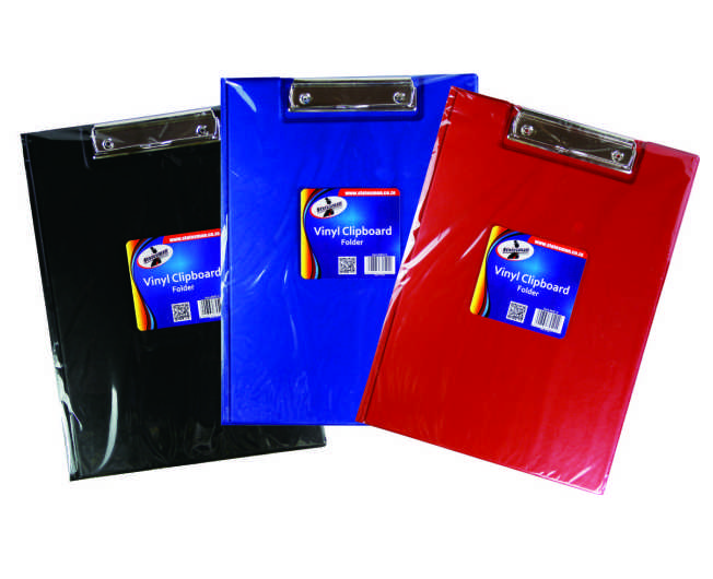 Vinyl Clipboard Folders Assorted Colours 1