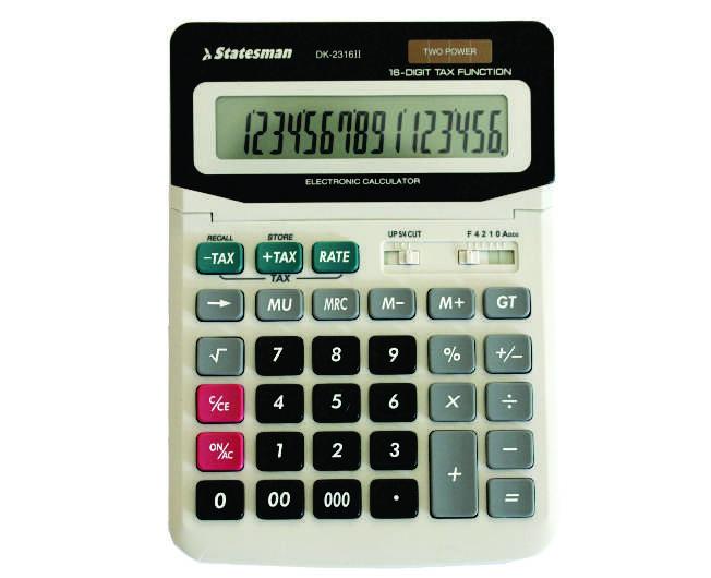 Tax Function Calculators 16 Digit 1