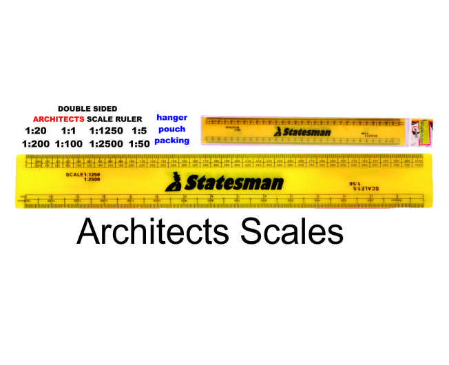 Flat  Architectural Scale Rulers 1