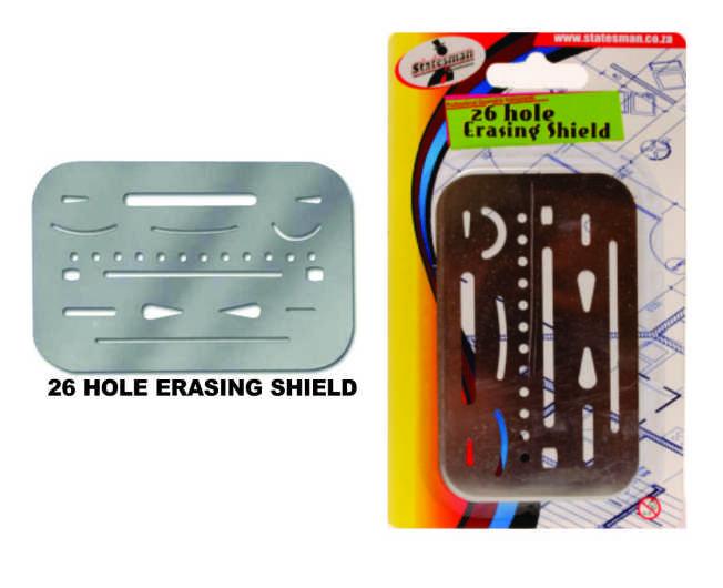 26 Hole Erasing Shield 1