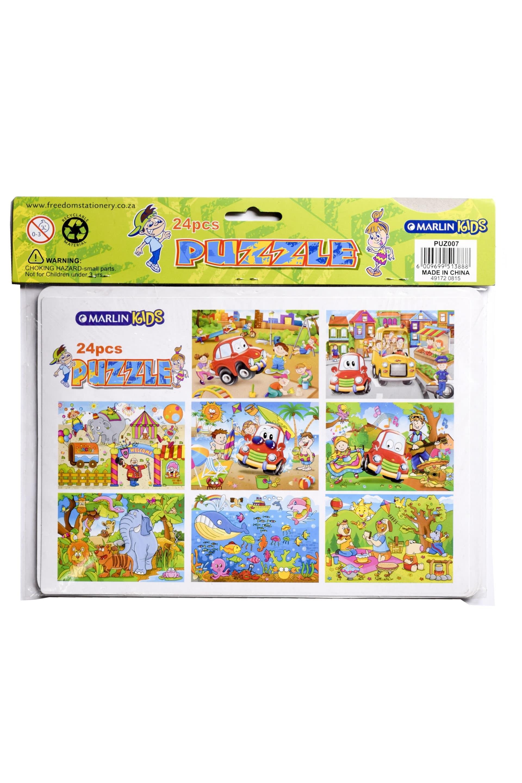 Puzzles 24pc Puz 007 Cardboard 1