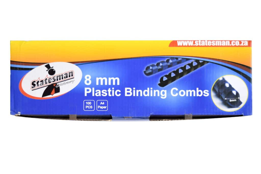 Binding Combs Blue 8mm 100 Pack 1