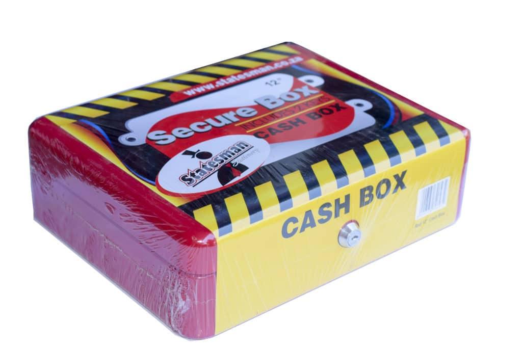 "12"" Cash Box-red Metal + Key 1"