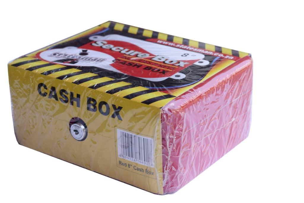 "8"" Cash Box-red Metal + Key 1"