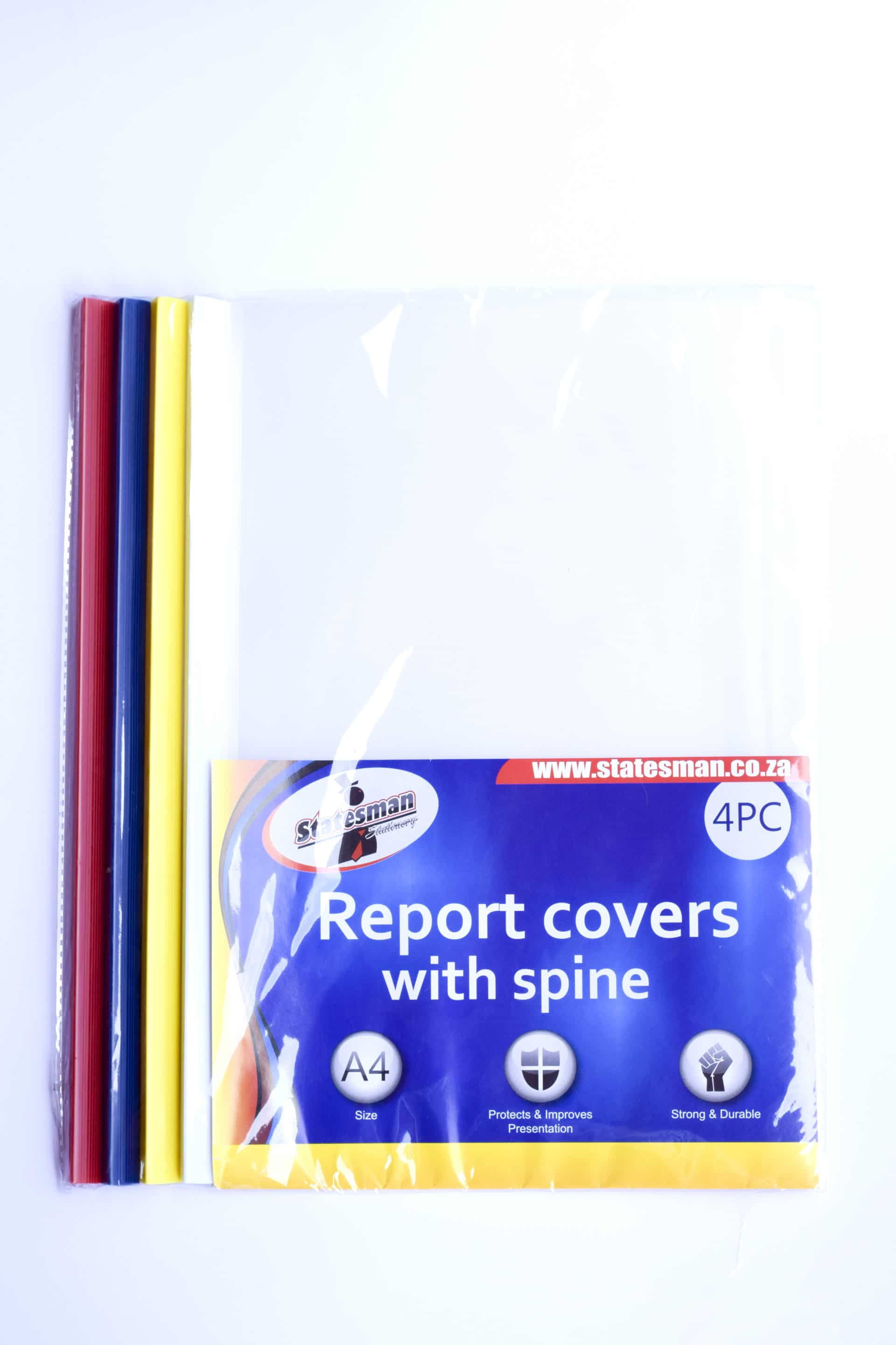 4pack Report Covers With Spine(binder) 1