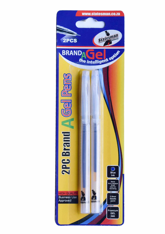 Gel Pens Needle Tip 0.5 Blue 2 Pack Special Offer 1