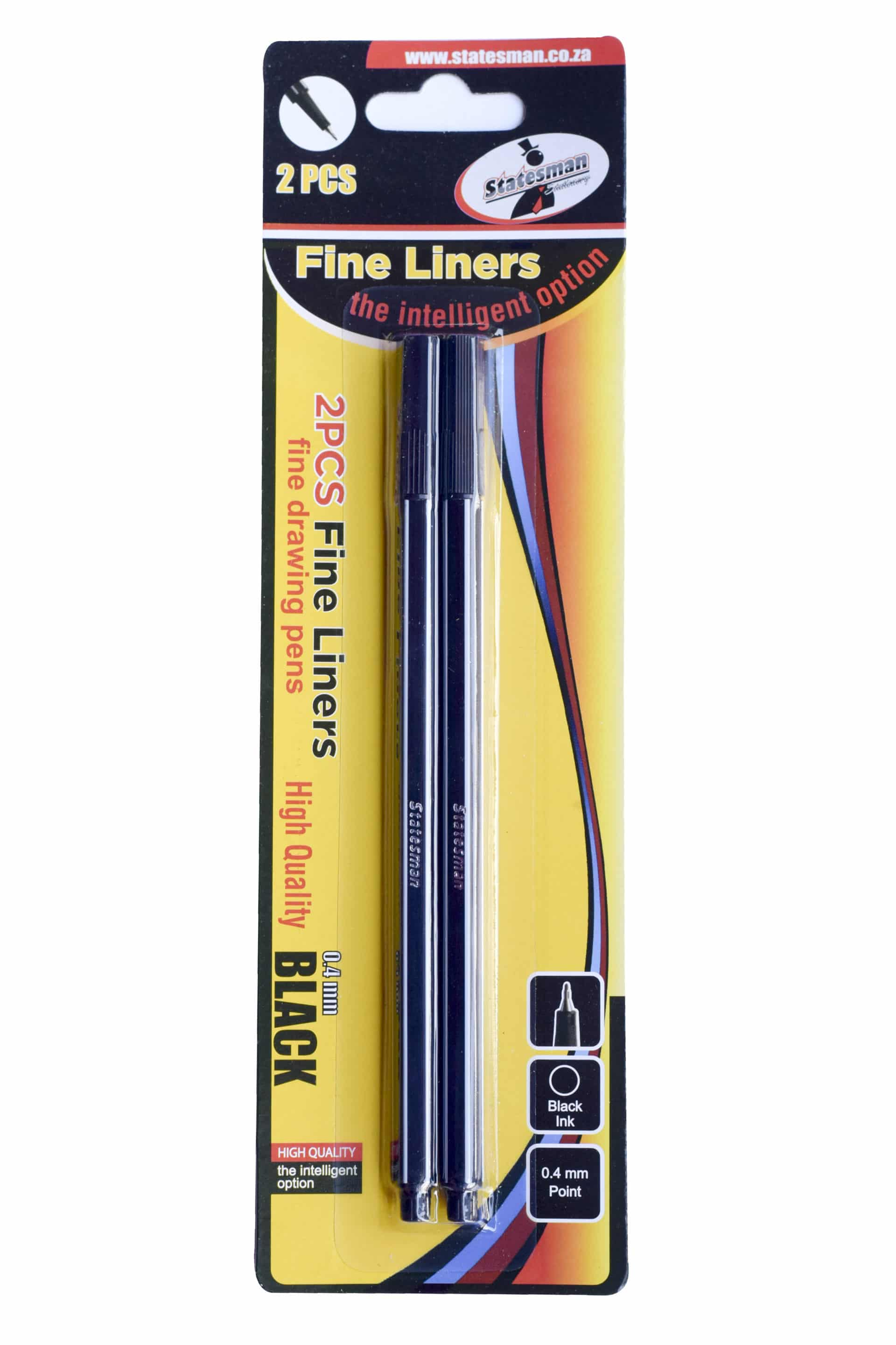 Fineliners 2 Piece Black Carded Special Offer 1