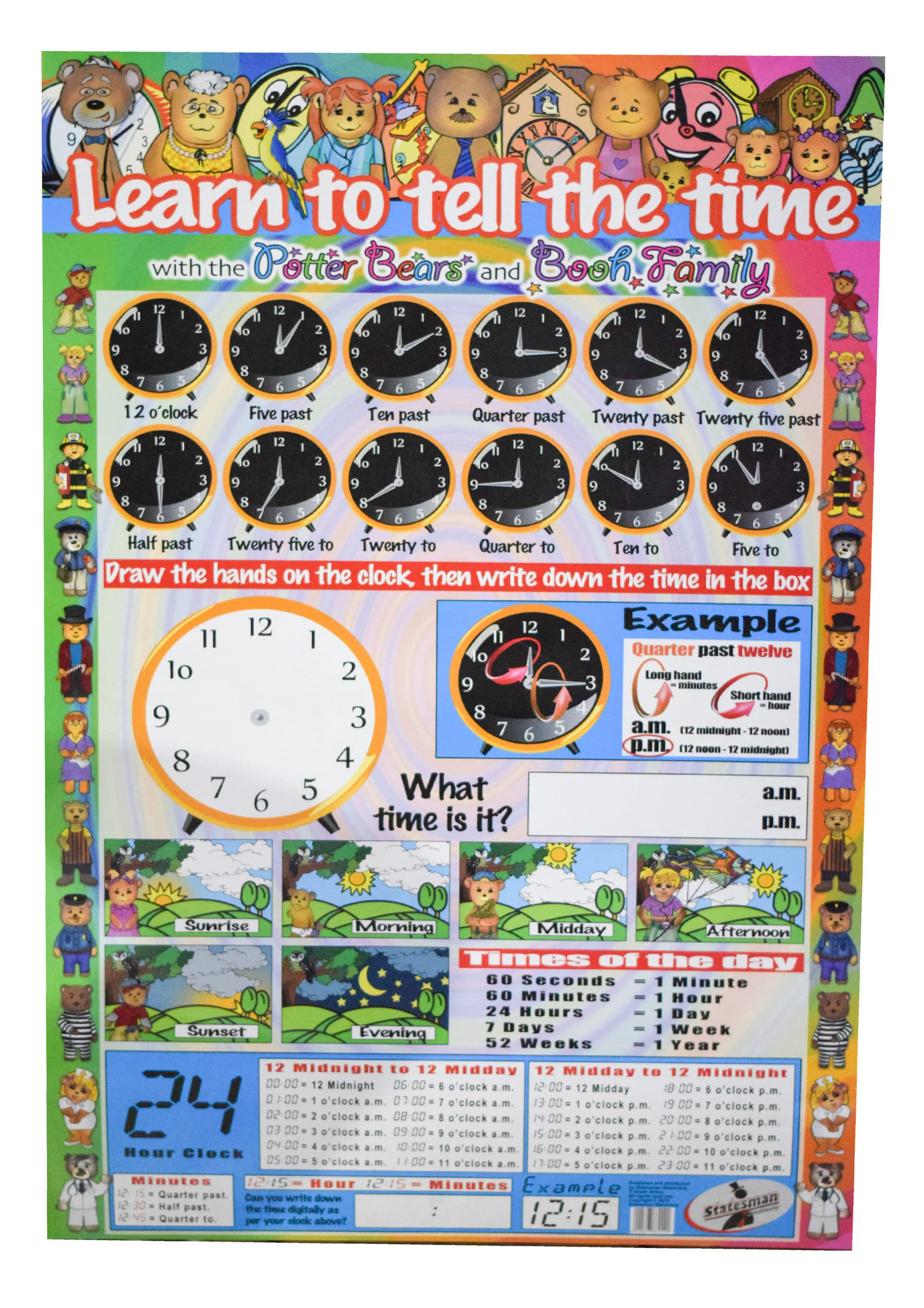 Poster Learn to Tell Time 1