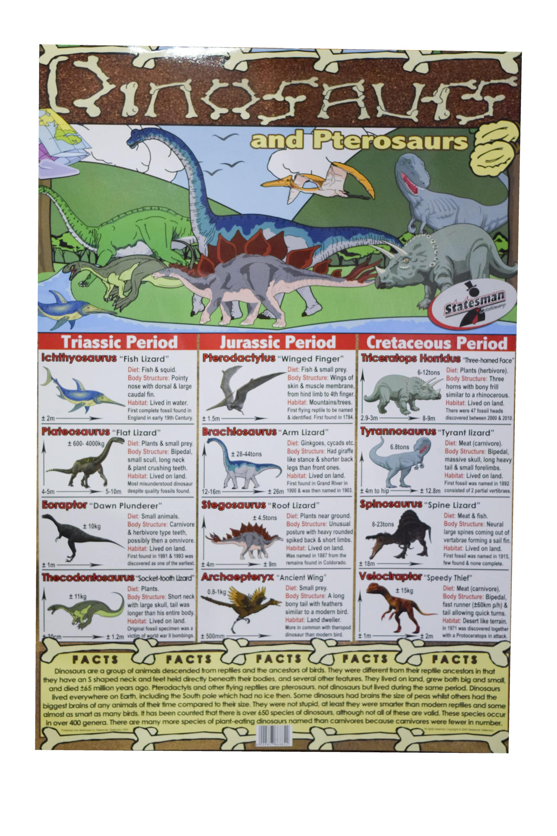 Poster Dinosaurs Write and Wipe 1