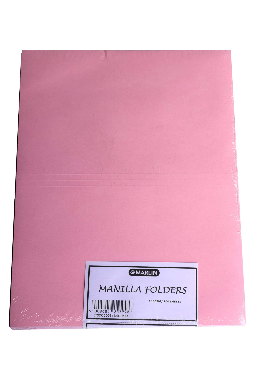 Manilla Folders 9266 Pink 100's 1