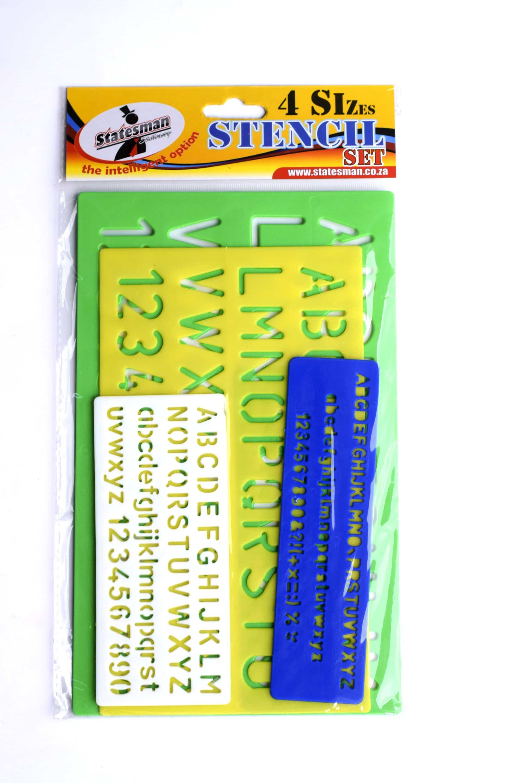 Stencil Set A-z 3 Piece Assorted Sizes 1