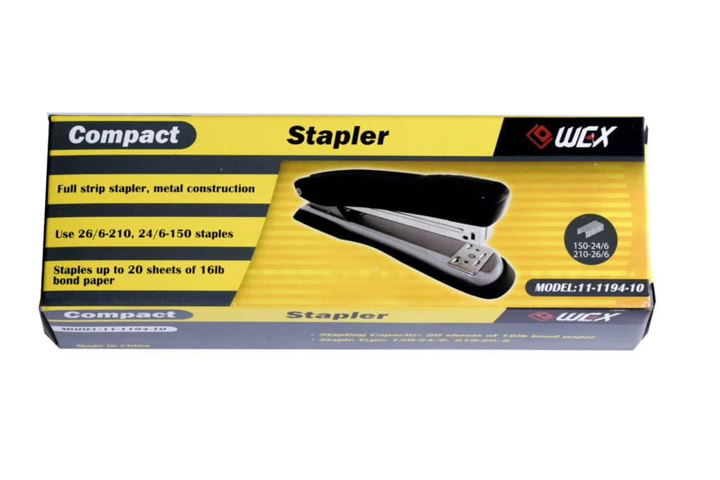 WEX Compact Full Strip Metal Stapler 16 Sheet 1