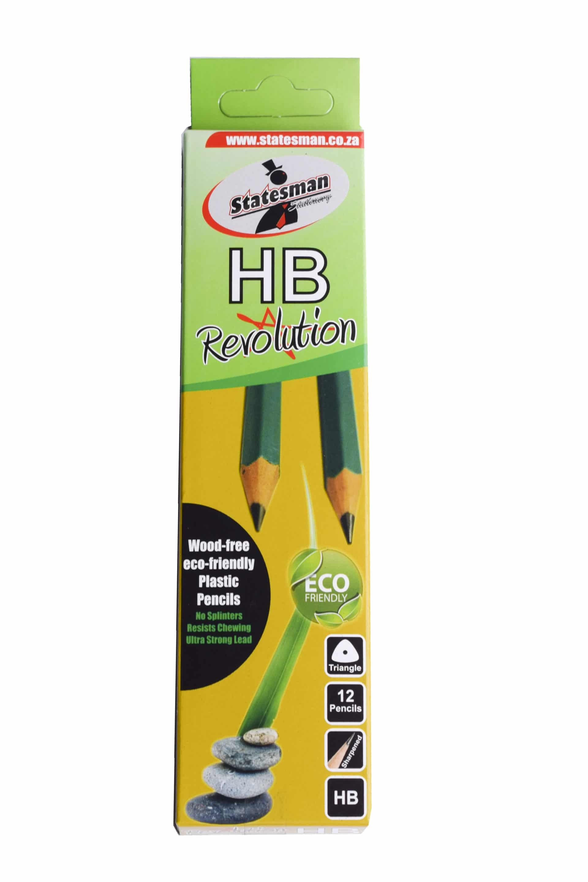Pencils HB 12 Pack Triangle Revolution No Wood 1