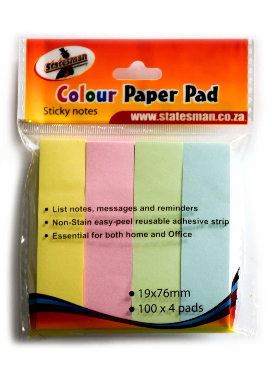 Colour Paper Pad 4 Pack 1