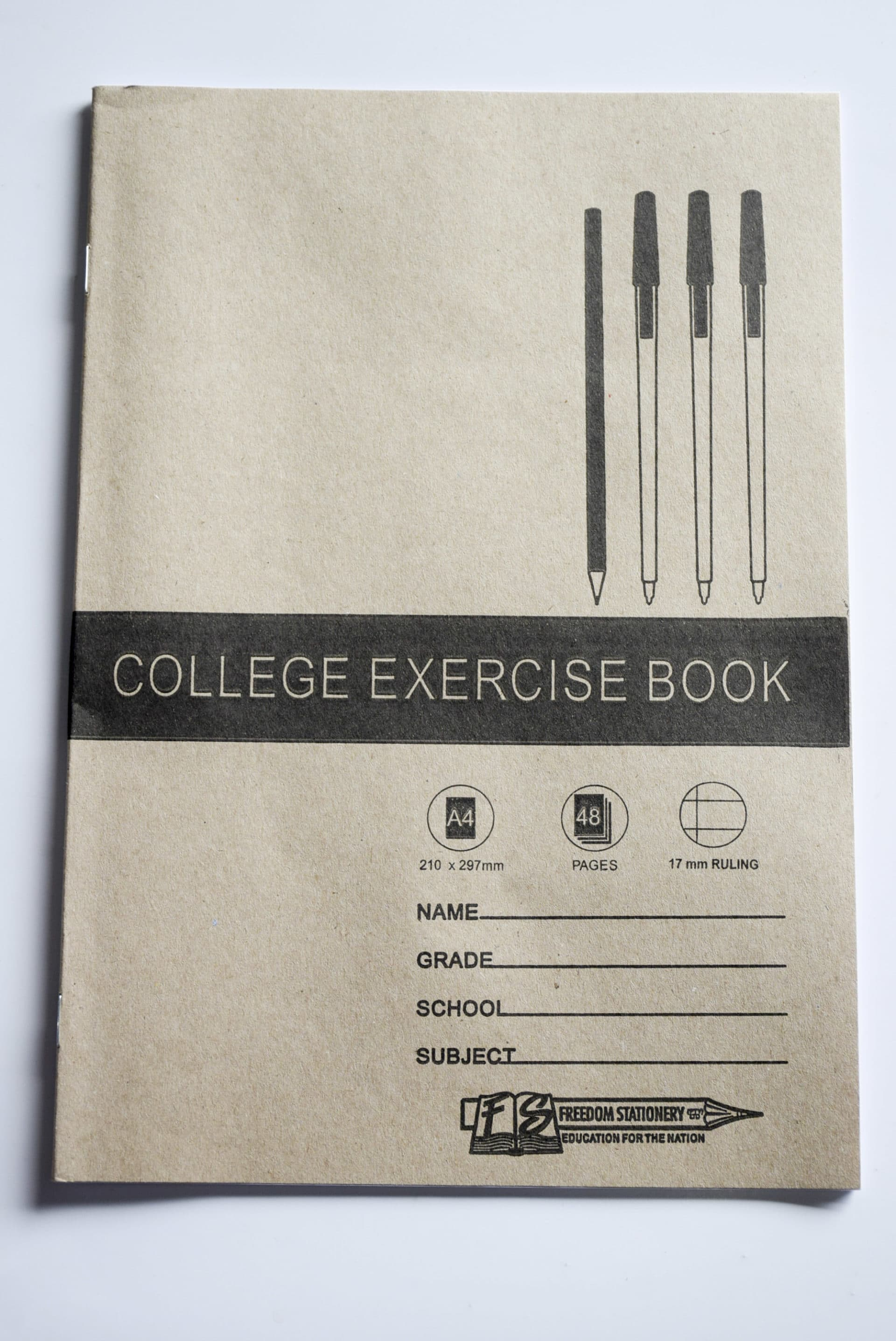 A4 48 Pg 17mm Ruled College Book 1