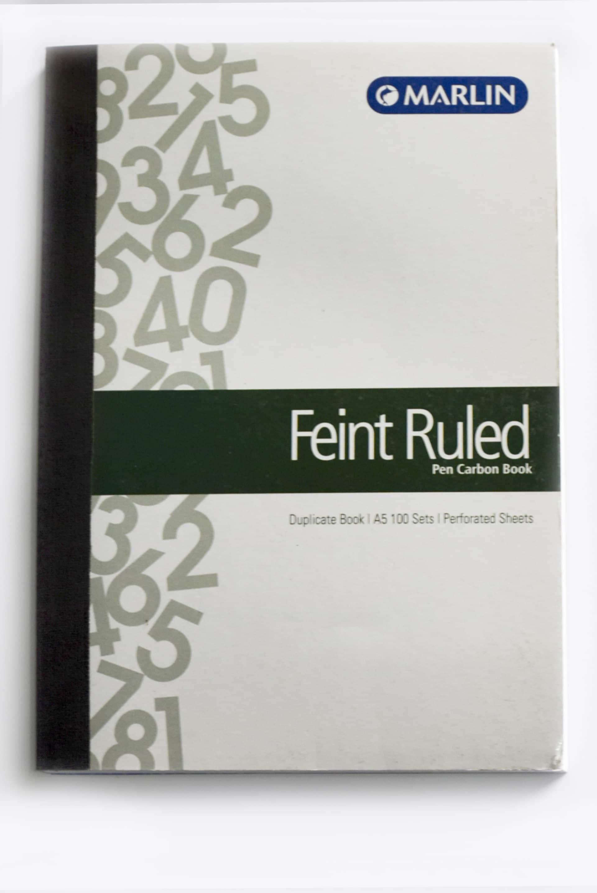 Carbon A5 Feint Duplicate Book 1