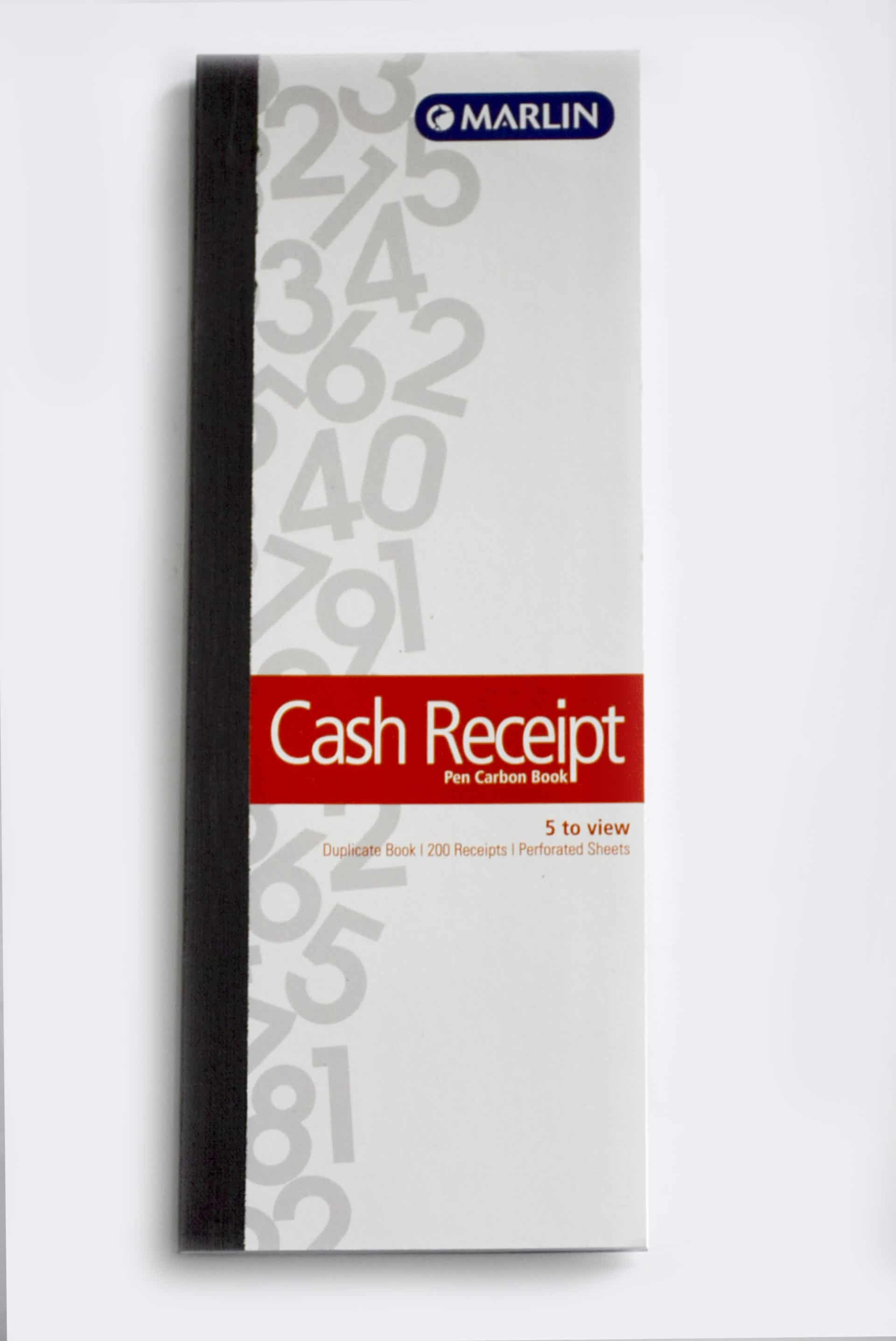 Self Carbon Cash Receipt Book 1