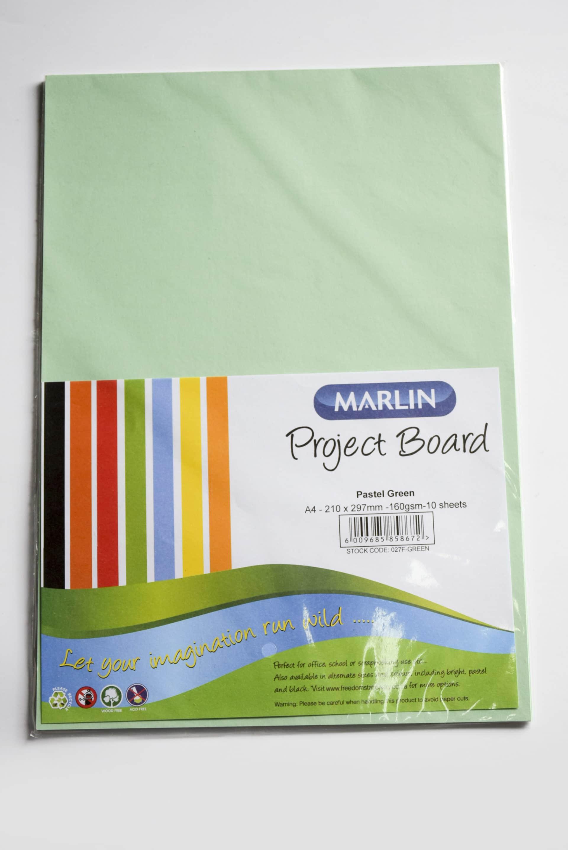 A4 Project Board 10 Sheet Green 1