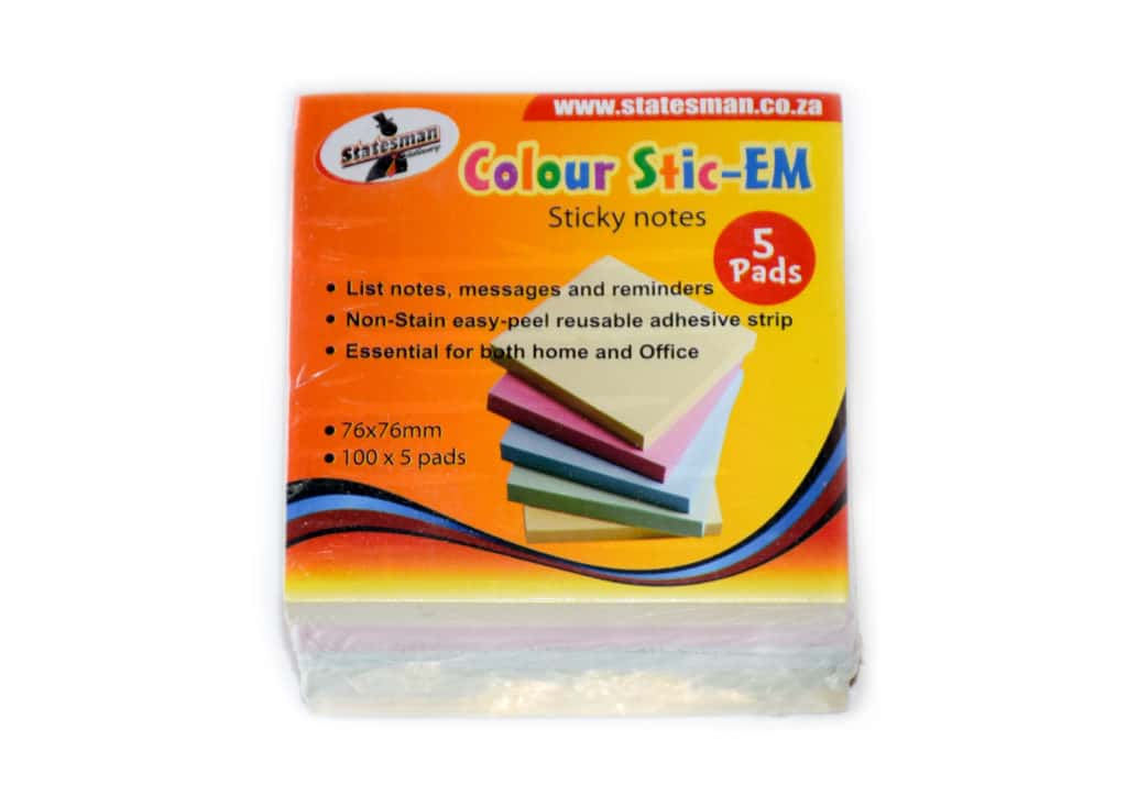 Colour Pastel Stick Em Pads 5 Pack 1