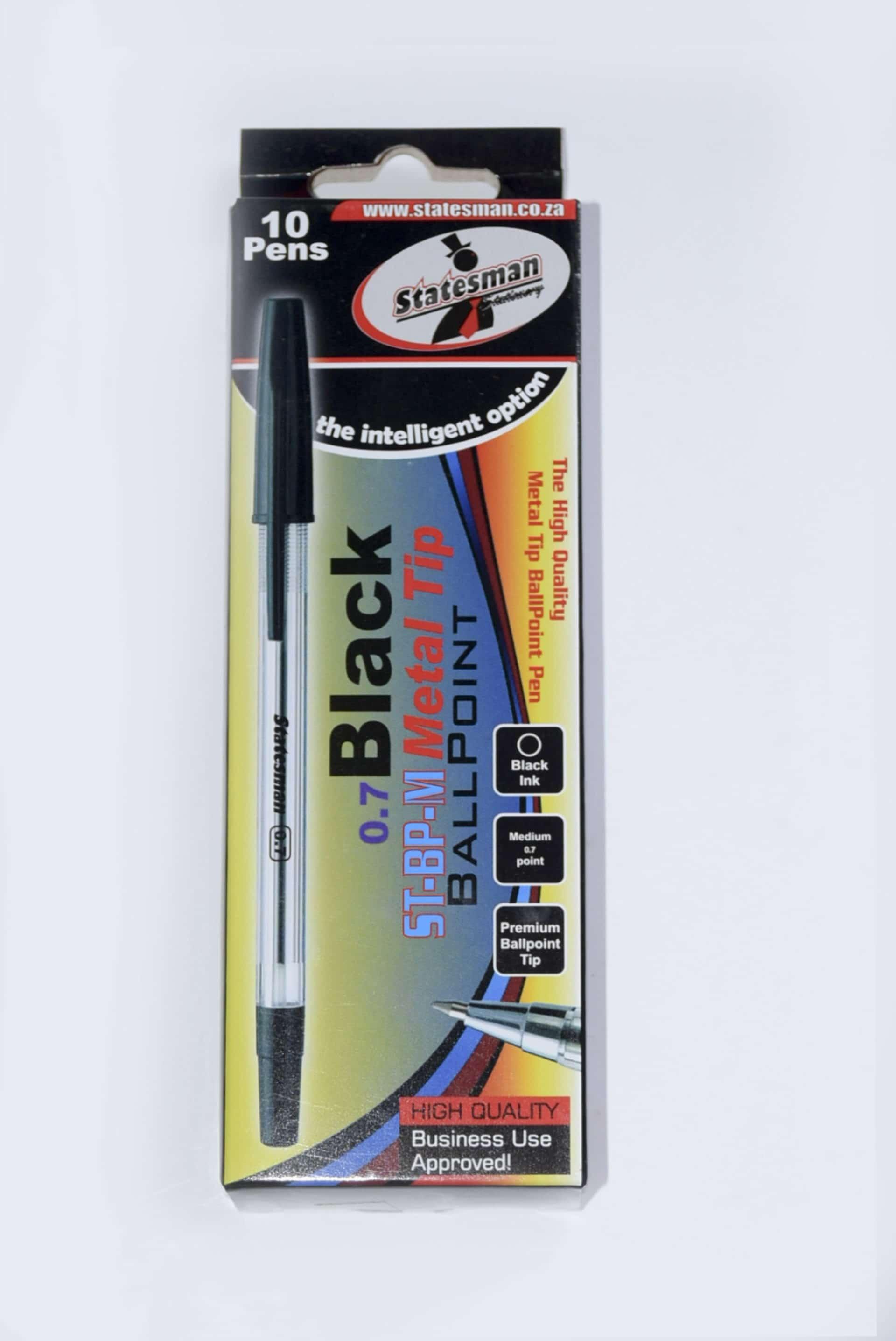 Pens Metal Tip 10s Black 1