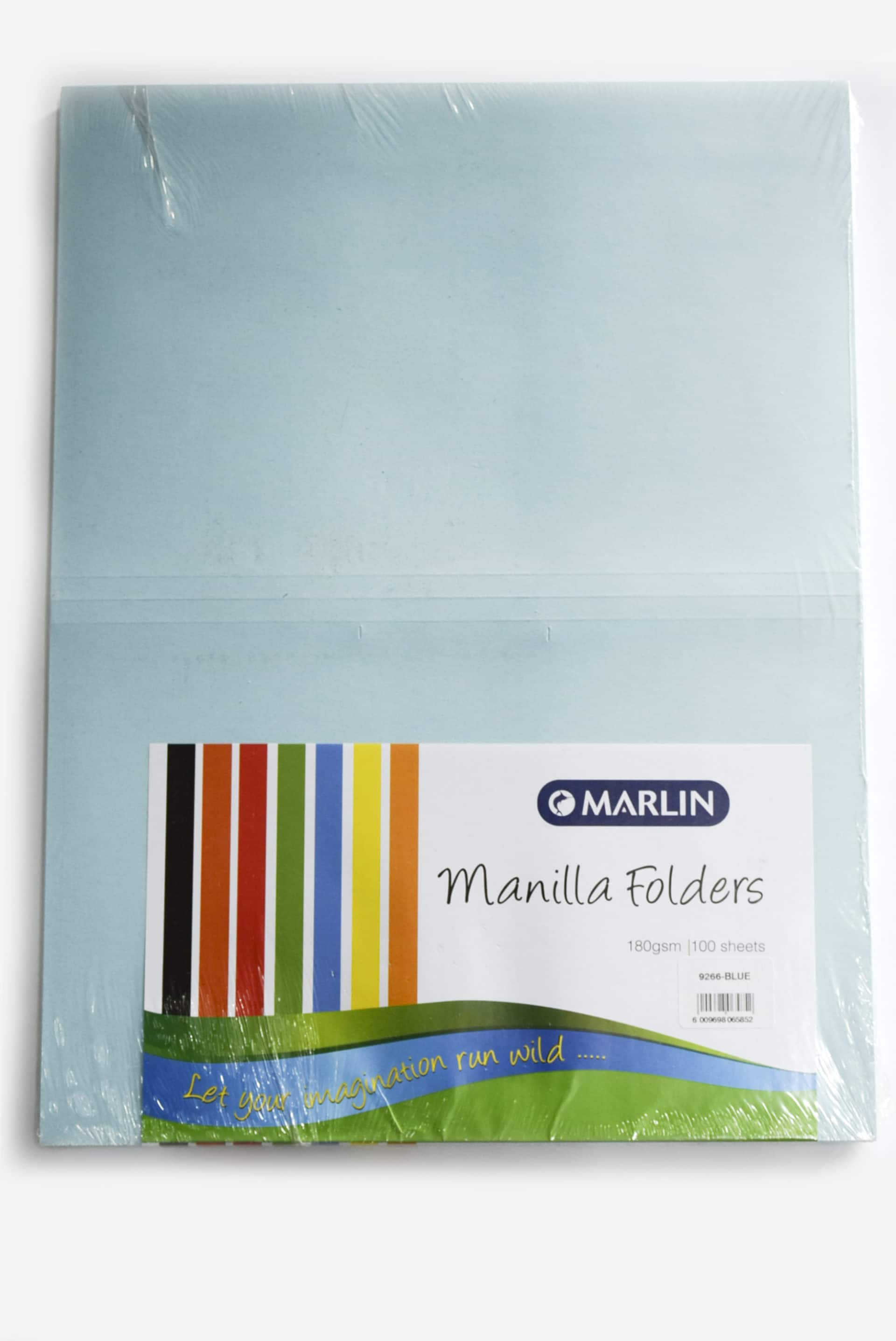 Manilla Folders 9266 Blue 100's 1