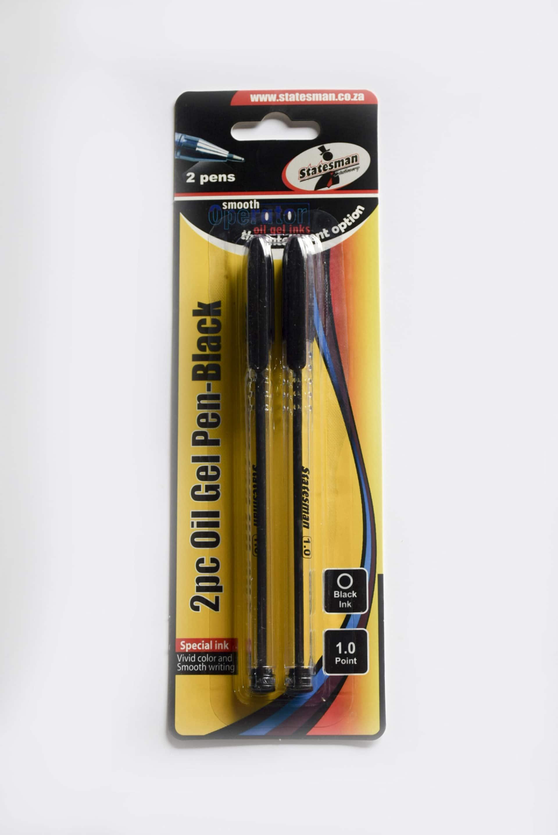 Oil Gel Pens Black 2pc 1